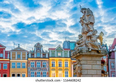 Architecture of Old Market in Poznan, Poland