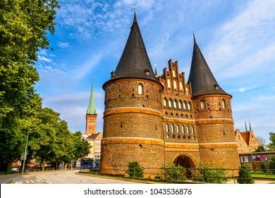 Architecture of the Old Part of Lubeck, a city in Schleswig-Holstein, northern Germany. UNESCO World Heritage