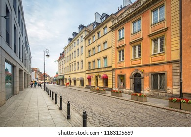 Architecture of the old town of Warsaw, Poland
