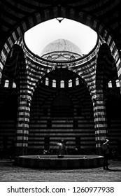 the architecture of the palace Khan as ad Pasha in the city of Damascus  in Syria in the middle east. Syria, Damascus, April, 2015