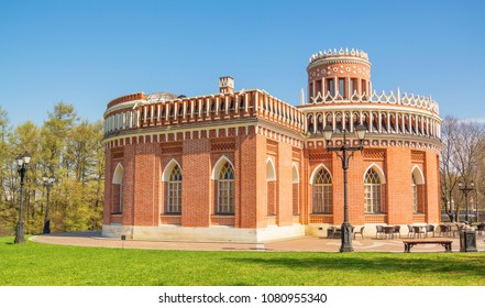 The architecture of the park Tsaritsyno - Russian Gothic, neogothic, pseudo-gothic