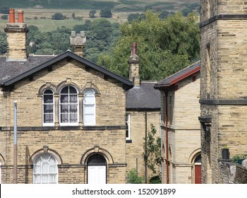 Architecture at Saltaire near Bradford West Yorkshire - House and view