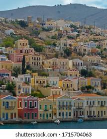 Architecture in Simi Town, Symi Greece