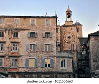 Architecture of Split old town, Croatia