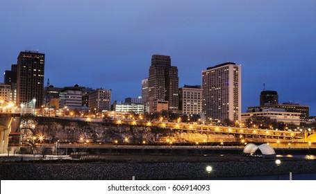 Architecture of St. Paul. St. Paul, Minnesota, USA.