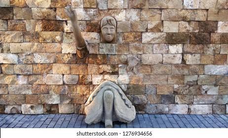 architecture stone park wall azerbaijan