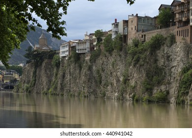 Architecture of Tbilisi, Georgia. Tbilisi is the capital and the largest city of Geogia with 1,5 mln people population