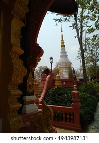 Architecture in a thai temple Located in Lampang Province, Thailand