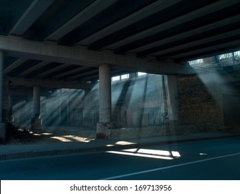 architecture under the bridge