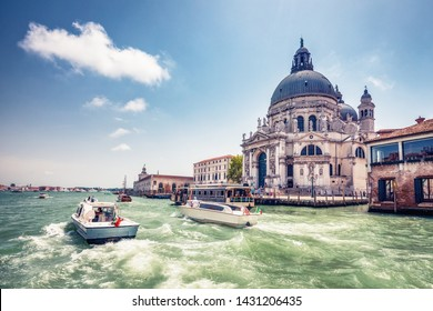 Architecture of Venice, Italy at daytime. Scenic travel background.