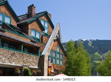Architecture of Whistler. Vancouver - Whistler selected to host 2010 Winter Olympic Games.