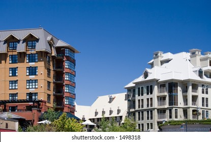 Architecture of Whistler. Vancouver - Whistler selected to host 2010 Winter Olympic Games. Whistler, British Columbia is a Canadian resort town.