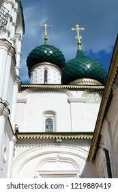 Architecture of Yaroslavl town, Russia. Old orthodox church of Elijah the Prophet. UNESCO World Heritage Site.