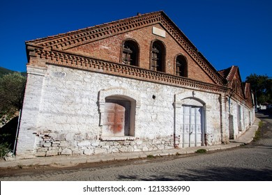 Architecturel Historical olive oil factory in Edremit, Balikesir, Turkey
