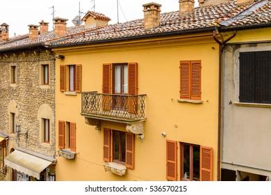 Architecure of Historic center of  San Marino,