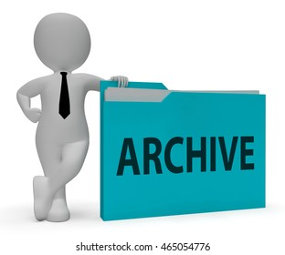 Archive Folder Meaning Collection Arranging 3d Rendering