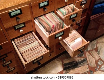 Archive reference card catalogue.