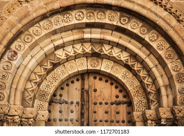 Archivolts of the Romanesque church of San Pedro de Ávila, Spain