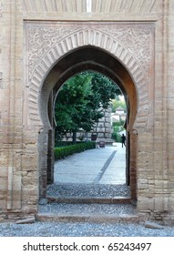 Archway at the Alhambra in Granada, Spain