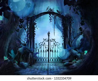 Archway in an enchanted garden
