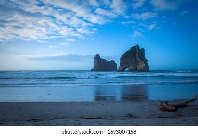 Archway Islands, Wharariki Beach, Nelson, New Zealand