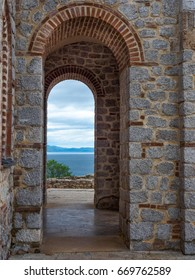 Archway with view