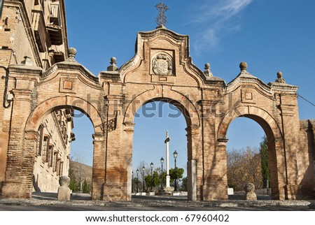 Archways Abbey Sacromonte Granada Stock Photo (Edit Now