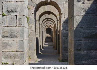 archways in the ruins of the ancient city of Pergamon ( Bergama), Turkey