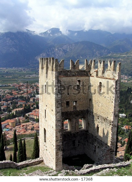 Arco castle ruins in Italy