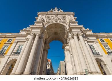 Arco da Rua Augusta in Lisboa, Portugal