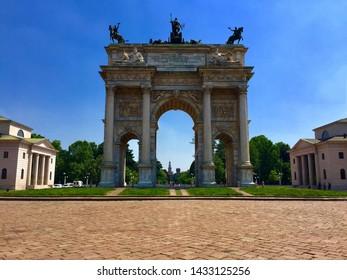 Arco della pace, parco Sempione, Milan, Italy