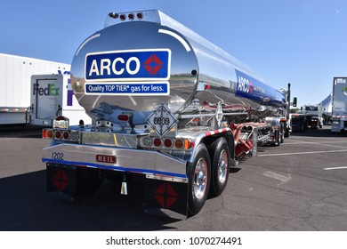 Arco fuel tanker truck at the Arizona Truck Driving Championship Tempe Arizona 4/14/18