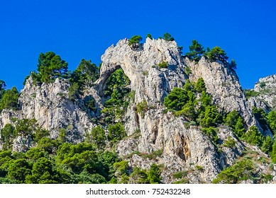 Arco Naturale (Natural Arch) on the island of Capri Italy.