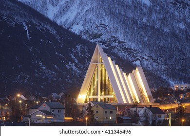 The arctic cathedral in Tromso.
