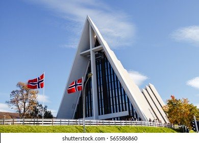 Arctic cathedral in Tromso city in northern, Norway