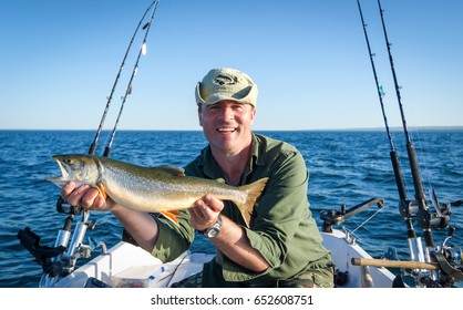 Arctic char fishing in Sweden