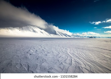 Arctic desert on top of a glacier