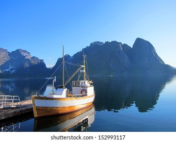 Arctic fishing village scenery of Lofoten Island in Norway