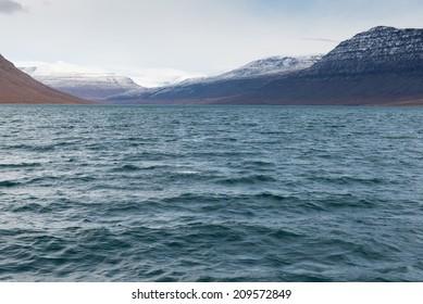 Arctic landscape in Greenland around Disko Island