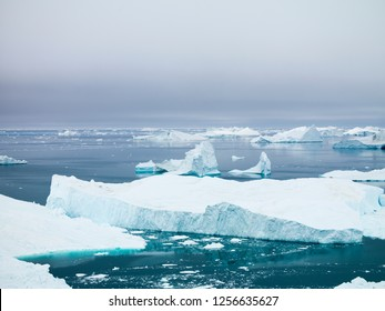 Arctic Ocean and Icebergs in Greenland