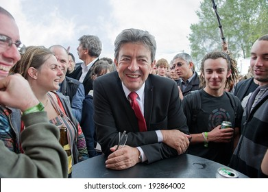 ARCUEIL, FRANCE - SEPTEMBER 17, 2011 : Jean-Luc Melenchon in the Fete de l'Humanite, french political festival