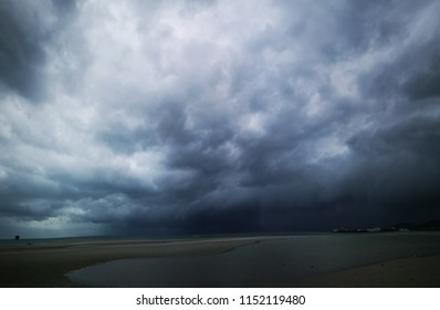 arcus type of clouds over nathon beach ko samui