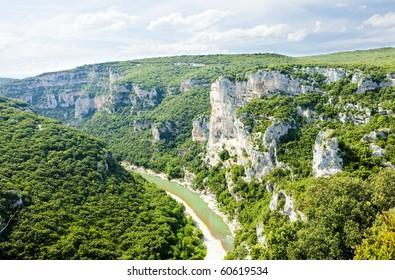 Ardeche Gorge, Rhone-Alpes, France