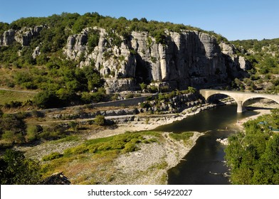 Ardeche River in Balazuc, France