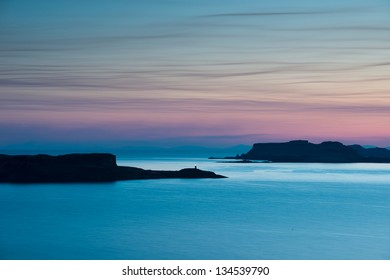 Ardtreck point and the island of Oronsay, Isle of Skye, Inner Hebrides, Scotland