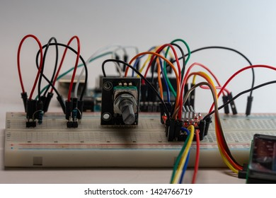 Arduino electronic project with a rotary encoder & stepper motor driver