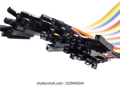 Arduino wire on a white background