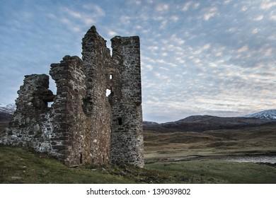 Ardvreck Castle in Sutherland,Scotland
