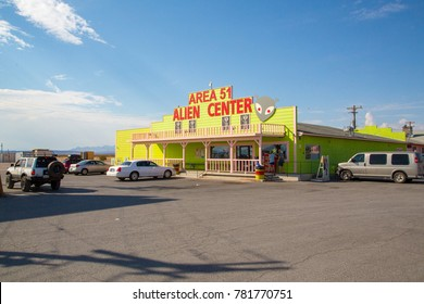 Area 51 Alien Center shop and gas station near death valley