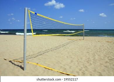 Area for beach volleyball. Black Sea, Bulgaria.